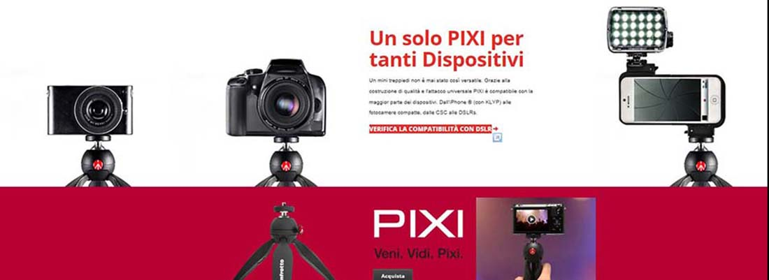 MANFROTTO PIXI €. 24,90 E €.49